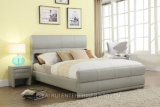 Gray PVC Bed Home Hotel Simple Modern Bedroom Furniture