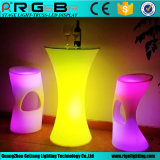 Rigrba Factory LED Round Shinning Cocktail Table LED Plastic Table