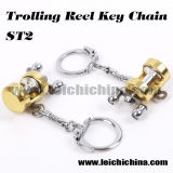 Hot Sale Mini Trolling Fishing Reel Key Chain