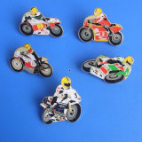 Soft Enamel Motorcycle Metal Badge with Epoxy (ASNY-LUB905)