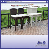 Bar Chair Patio Furniture Flat Wicker Barstool Outdoor Furniture (J408)