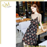 Good Price Chiffon Flok Printed Two Pieces Dresses