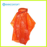 Disposable PE Rain Poncho with Drawstring Hood
