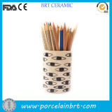 Eyes Printed Desktop Ceramic Pencil Holder