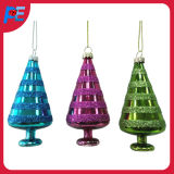Christmas Decoration Glass Tree Shaped for Hanging Ornament
