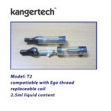 Kanger T2 Clearomizer with 2.4ml Wholesale Changeable Coil