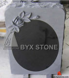 Mirror Shape Granite Stone Monument / Headstone with Rosettes