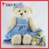 En71 ASTM Blue Skirt Teddy Bear Custom Sitting Teddy Bear