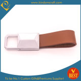 China Factory Price High Quality Brown Genuine Leather Key Chain with Customized Logo