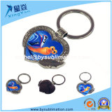 Sublimation Heart-Shape Metal Keychain for Sale
