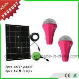 Portable Solar Home Lighting System Mobile Phone Charging 2 Light Solar Kit with 9W Solar Panel