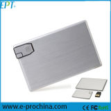 Customized Logo Metal Card Shape Memory USB Flash Drive (EC06)