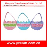 Easter Decoration (ZY14C909-1-2-3 25X18CM) Easter Candy Basket Egg Bag