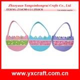 Easter Decoration (ZY14C909-1-2-3 25X18CM) Easter Candy Basket Egg Bag