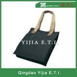 600d Polyester Tote Bag with Contrasting Webbed Handles