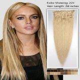 Clip in Hair Extensions Full Head Deluxe 140-180gram Setpure Blonde
