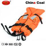 Customized Orange Reflective Life Vest with Lifesaving Whistle Life Jacket