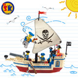 Hot Sale Educatonal Pirate Ship Blocks Toy for Children
