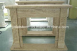 Popular Yellow Wood Vein Sandstone Interior Fireplace