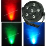 Lpr1206 6PCS*1.5W 3-in-1 RGB Plastic Indoor LED PAR Light