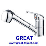 Brass Pull-out Kitchen Faucet Kitchen Tapware (GL189A81)