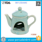 Teapot Shape Oil Burner with Lid Cheap Ceramic