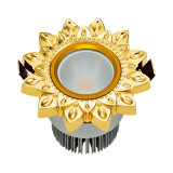 Brass LED Hotel Downlight with 24k Gold Color