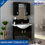 Hot Sell Floor PVC Curved Bathroom Vanity with Mirror Cabinet