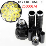 High Brightness 25000 Lm 18X CREE Xml T6 LED Flashlight