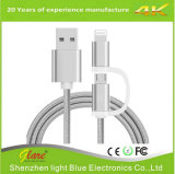 High Quality 2.4A 2 in 1 Micro USB Cable