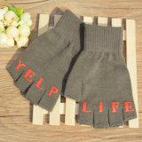 Winter Half-Finger Knitting Gloves with Custom screen Printed Logo