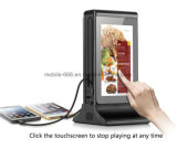 "20800mAh Portable Restaurant Menu Power Bank with 7"" Double Sided LED Display, Cafe Coffee Shop Table Charging Station with Advertising Player"