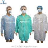 Disposable Polypropylene Microporous SMS Nonwoven PP Lab Coat