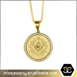 Hip Hop Gold Coin Masonic Jewel Charms Pendant Mjhp108