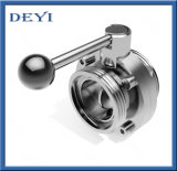 China Stainless Steel Sanitary Forging Threading Male Thread Butterfly Valve