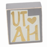 Beautiful Wooden Block with Words for Desk/Table