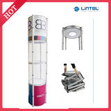 Aluminum Trade Show Booth Twist Tower Stand Display