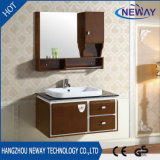 White High Glossy Bathroom Sets Cabinets with Mirror Cabinet