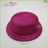 Hot Pink Ellipse Plastic Top Party Hats