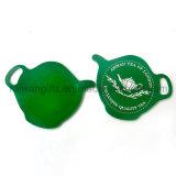 Teapot Design Soft PVC Rubber Coaster for Souvenirs
