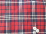 T/C 65/35 Red/Black Check Shirt Yarn Dyed Fabric