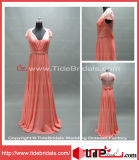 Fancy A-Line Lace Party Wear Bridesmaid Formal Gown Prom Evening Dress (AS4219)