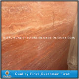 Polished Natural Red Travertine Slabs for Pavers, Floor/Wall Tiles