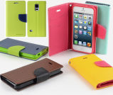 Luxury PU Leather Wallet Flip Case for Samsung S5