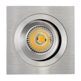 Lathe Aluminum GU10 MR16 Square Tilt Recessed LED Downlight (LT2309B)