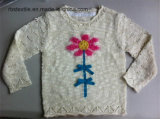 Girls Intarsia Flower Ture Knitted Sweater