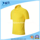 Yellow Color Sublimation Quick Dry Polo Tshirt
