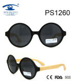 Round Shape PC Frame with Bamboo Temple Lady Sunglasses (PS1260)