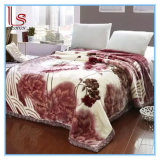 Winter Super Soft Thick Flowers 2 Ply Wedding Raschel Blankets
