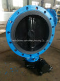 Double Flange Type Butterfly Valve with Gear Actuator